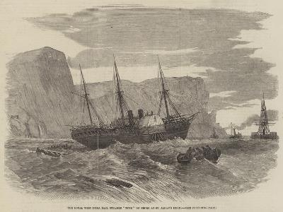 The Royal West India Mail Steamer Tyne on Shore at St Alban's Head--Giclee Print