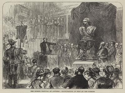 The Rubens Festival at Antwerp, Inauguration of Bust at the Museum--Giclee Print