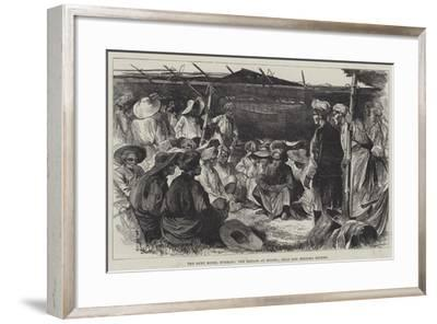 The Ruby Mines, Burmah, the Bazaar at Mogok, Shan and Meinlha Miners--Framed Giclee Print