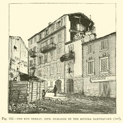 The Rue Debray, Nice, Damaged by the Riviera Earthquake, 1887--Giclee Print