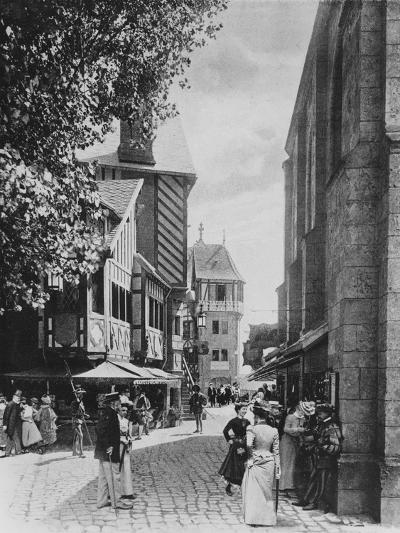 The Rue Des Vieilles Ecoles and the Church of Saint Julien--Giclee Print