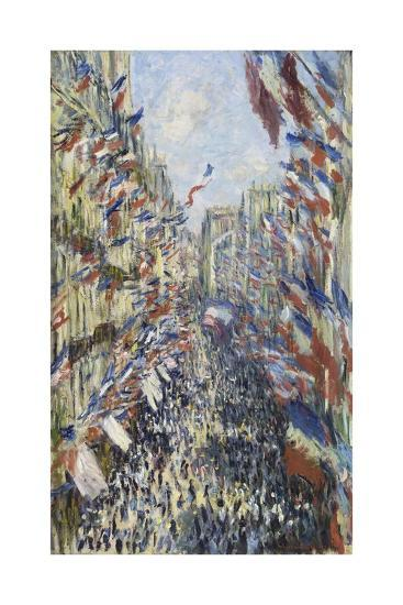 The Rue Montorgueil in Paris, Celebration of June 30, 1878-Claude Monet-Giclee Print