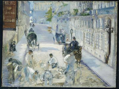 The Rue Mosnier with Workmen, 1878-Edouard Manet-Giclee Print