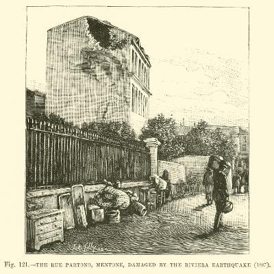 The Rue Partono, Mentone, Damaged by the Riviera Earthquake, 1887--Giclee Print