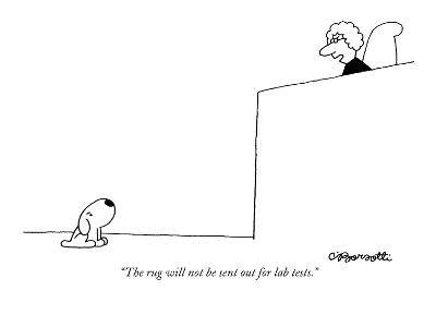 """""""The rug will not be sent out for lab tests."""" - New Yorker Cartoon-Charles Barsotti-Premium Giclee Print"""