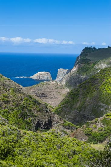 The Rugged West Maui Landscape and Coastline, Maui, Hawaii, United States of America, Pacific-Michael Runkel-Photographic Print