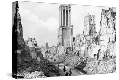 The Ruins and Cathedral of Caen, Normandy, France, C1944