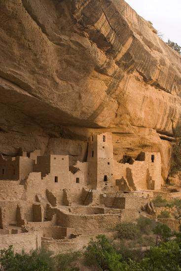 The Ruins of a Cliff Dwelling, Cliff Palace, in Mesa Verde National Park-Phil Schermeister-Photographic Print