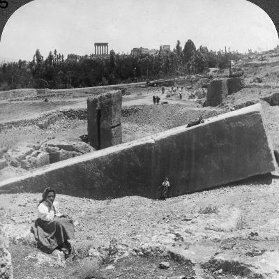 The Ruins of Baalbek (Balabak), Syria, 1900-Underwood & Underwood-Photographic Print