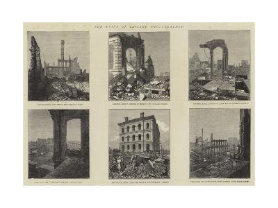 The Ruins of Chicago Photographed--Giclee Print