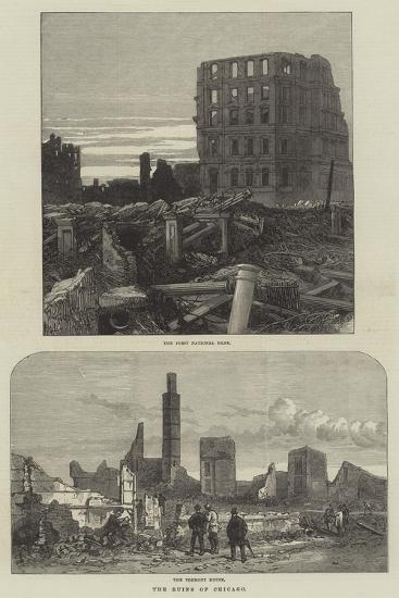 The Ruins of Chicago--Giclee Print
