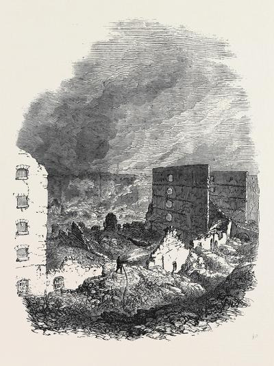 The Ruins of Cotton's Wharf the Great Fire in Southwark July6 1861--Giclee Print