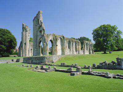 The Ruins of Glastonbury Abbey, Glastonbury, Somerset, England, UK-Christopher Nicholson-Photographic Print