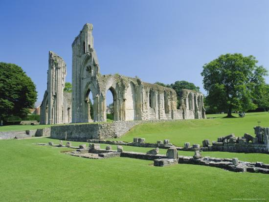 The Ruins of Glastonbury Abbey, Glastonbury, Somerset, England, UK'  Photographic Print - Christopher Nicholson   Art.com