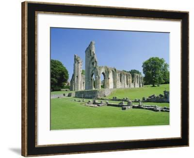 The Ruins of Glastonbury Abbey, Glastonbury, Somerset, England, UK-Christopher Nicholson-Framed Photographic Print