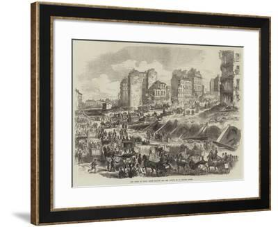 The Ruins of Paris, Porte Maillot and the Avenue De La Grande Armee--Framed Giclee Print