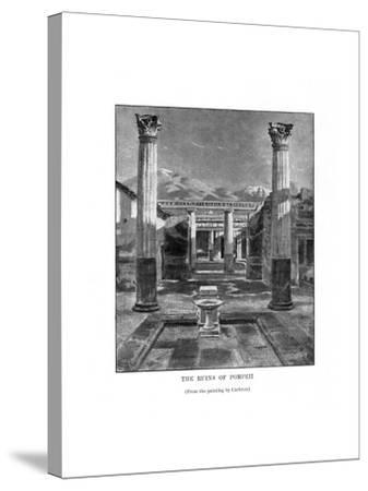 The Ruins of Pompeii, Italy, 19th Century-Carleton Carleton-Stretched Canvas Print