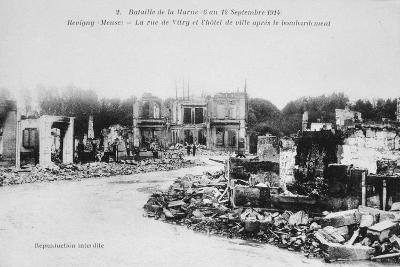 The Ruins of Revigny, France, Battle of the Marne, World War I, 1914--Giclee Print