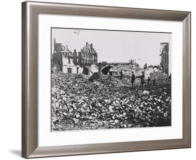 The Ruins of Richmond, Virginia, 1865-Andrew Joseph Russell-Framed Photographic Print