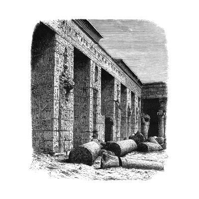 The Ruins of the Palace of Rameses III, Medinet Habu, Upper Egypt, C1890--Giclee Print