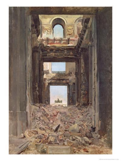 The Ruins of the Tuileries, 1871-Jean-Louis Ernest Meissonier-Giclee Print