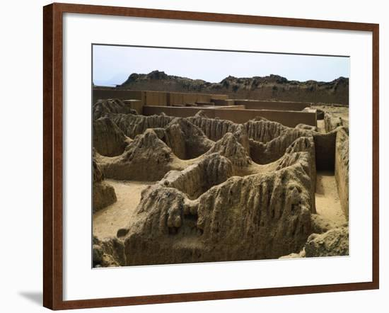 The Ruins of Tschudi Palace in Chan Chan--Framed Giclee Print