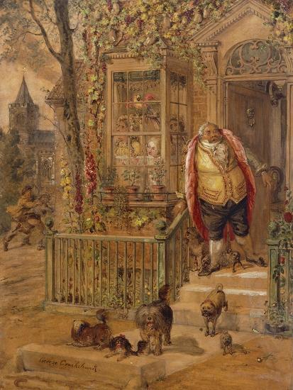 The Run-Away Knock-George Cruikshank-Giclee Print