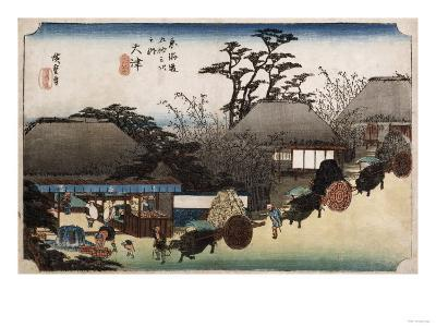 The Running Well Teahouse, Otsu', from the Series 'The Fifty-Three Stations of the Tokaido'-Ando Hiroshige-Giclee Print