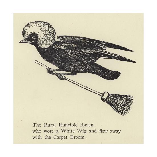The Rural Runcible Raven-Edward Lear-Giclee Print
