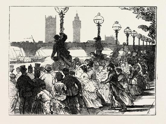 The Rush on the Embankment, London, UK, 1873--Giclee Print