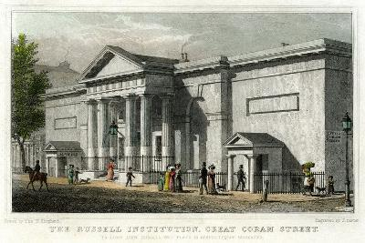 The Russell Institution, Great Coram Street, Bloomsbury, London, 1828-J Carter-Giclee Print