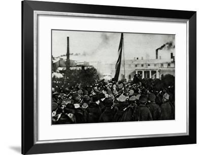 The Russian Army's Support of the Revolution--Framed Photographic Print