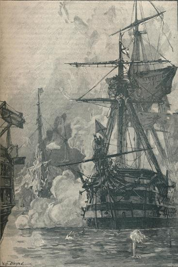 The Russian attack on Sinop, Turkey, 1853 (1906)-Unknown-Giclee Print