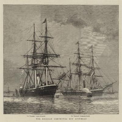 The Russian Corvettes Off Spithead-William Edward Atkins-Giclee Print