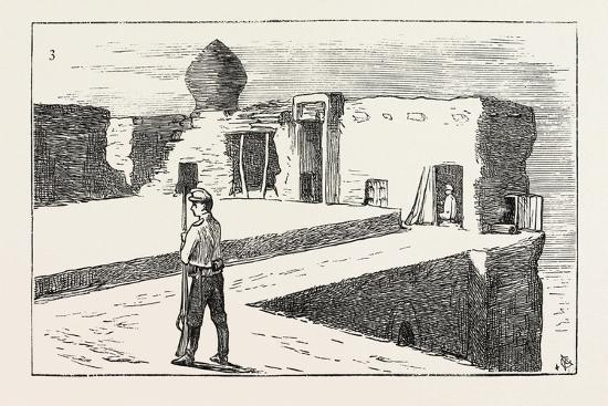 The Russian Expedition to Khiva: Sentinel on the Walls of the Fortress Chasar Asp., 1873--Giclee Print
