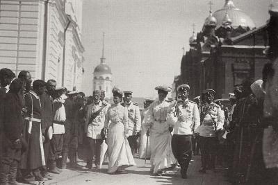 The Russian Royal Family Visiting Sarov Monastery, Russia, 1903-K von Hahn-Giclee Print