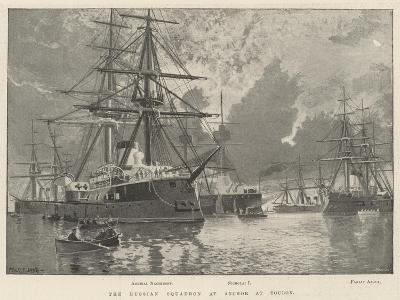 The Russian Squadron at Anchor at Toulon-Fred T. Jane-Giclee Print