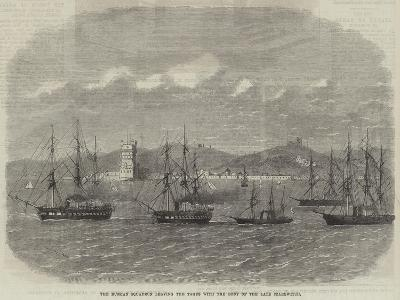 The Russian Squadron Leaving the Tagus with the Body of the Late Czarewitch-Edwin Weedon-Giclee Print