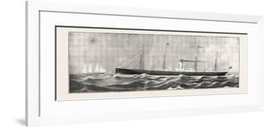 The S.S. Cheshire, the New Steamer for Rangoon and Burma Direct--Framed Giclee Print