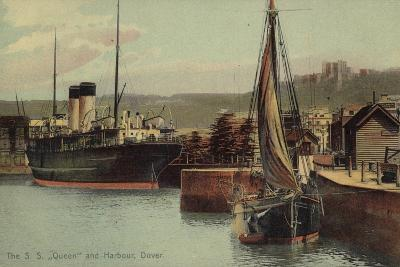 "The S S ""Queen"" and Harbour, Dover--Photographic Print"