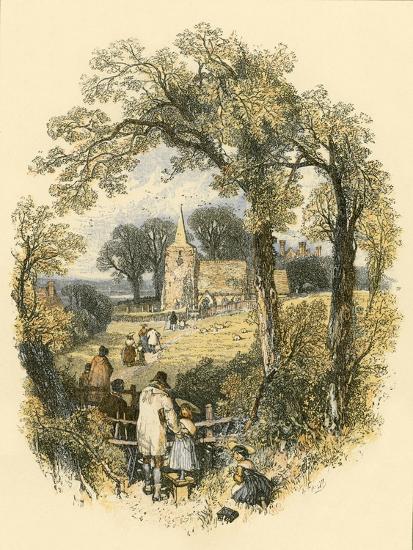 The Sabbath-Miles Birkett Foster-Giclee Print