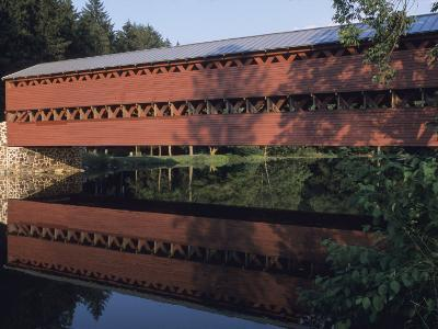 The Sachs Mill Bridge is Reflected in the Marsh River-Raymond Gehman-Photographic Print