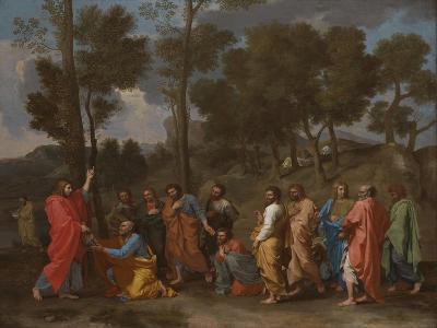 The Sacrament of Ordination (Christ Presenting the Keys to Saint Pete)-Nicolas Poussin-Giclee Print