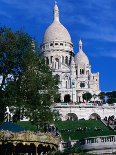 The Sacre Coeur Basilica is Located at the Top of Montmatre (Marty'R Hill) in Paris, France-Doug McKinlay-Photographic Print