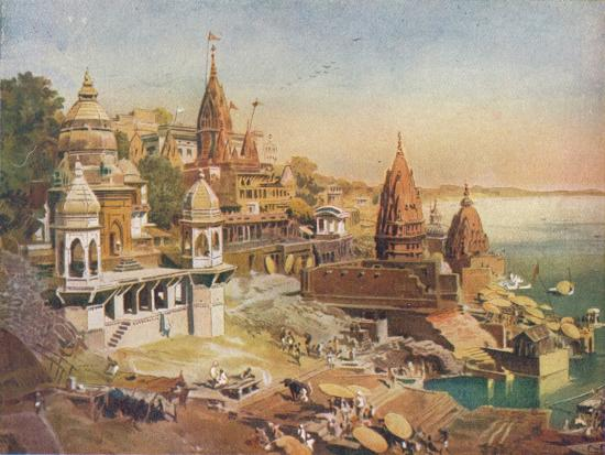 'The Sacred City of the Hindus: Benares on the Ganges', 1908-Unknown-Giclee Print