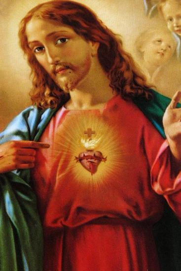 The Sacred Heart of Jesus, 19th Century--Giclee Print