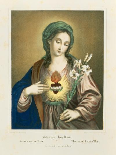 The Sacred Heart of Mary, Published by Fr. Wentzel, Weissenburg, 1850-German School-Giclee Print