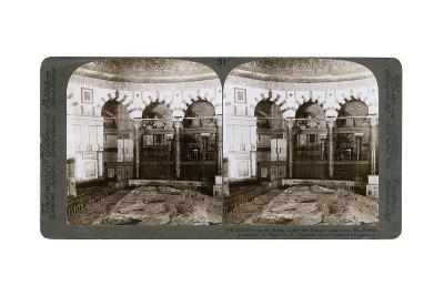 The Sacred Rock, Where the Temple Alter Stood, Mount Moriah, Jerusalem, Palestine, 1900-Underwood & Underwood-Giclee Print