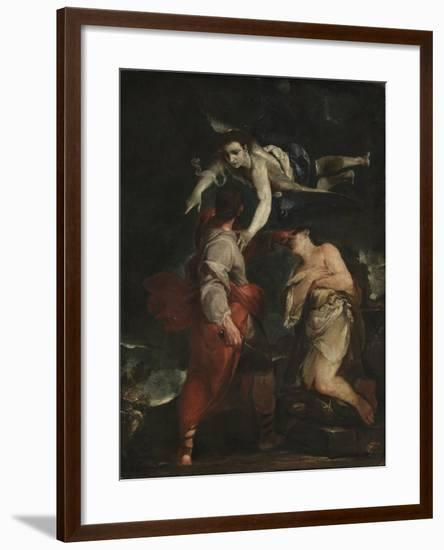 The Sacrifice of Abraham-Giuseppe Maria Crespi-Framed Giclee Print