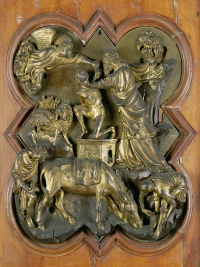 The Sacrifice of Isaac, Bronze Competition Relief for the Baptistry Doors, Florence, 1401-Filippo Brunelleschi-Giclee Print